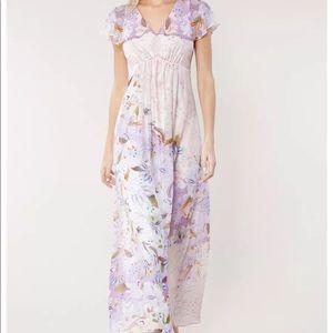 NWT Csilla Silk Chiffon Maxi Dress L